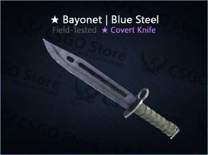 ★ Bayonet | Blue Steel (Field-Tested)
