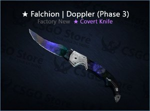 ★ Falchion Knife | Doppler Phase 3 (Factory New)