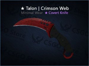 ★ Talon Knife | Crimson Web (Minimal Wear)