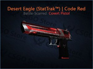 Desert Eagle (StatTrak™) | Code Red (Battle-Scarred)