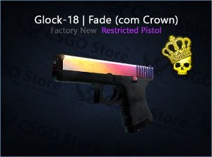 Glock-18 | Fade com Crown (Factory New)