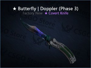 ★ Butterfly Knife | Doppler Phase 3 (Factory New)