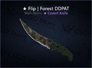 ★ Flip Knife | Forest DDPAT (Well-Worn)