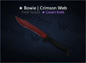 ★ Bowie Knife | Crimson Web (Field-Tested)
