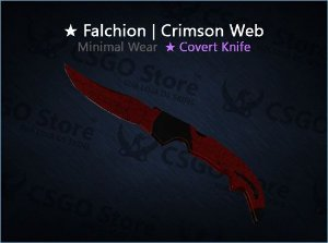 ★ Falchion Knife | Crimson Web (Minimal Wear)