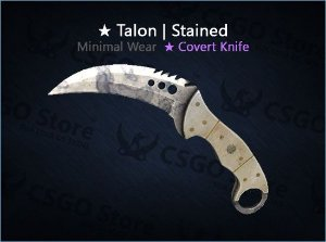 ★ Talon Knife | Stained (Minimal Wear)