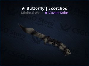 ★ Butterfly Knife | Scorched (Minimal Wear)