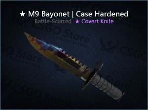 ★ M9 Bayonet | Case Hardened (Battle-Scarred)