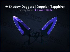 ★ Shadow Daggers | Doppler Sapphire (Factory New)