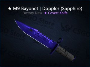 ★ M9 Bayonet | Doppler Sapphire (Factory New)