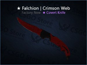 ★ Falchion Knife | Crimson Web (Factory New)