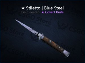 ★ Stiletto Knife | Blue Steel (Field-Tested)