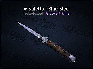 ★ Stiletto Knife | Blue Steel (Field-Tested)