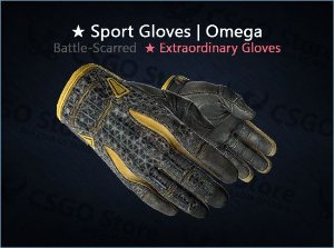 ★ Sport Gloves | Omega (Battle-Scarred)