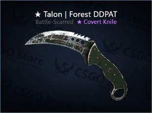 ★ Talon Knife | Forest DDPAT (Battle-Scarred)