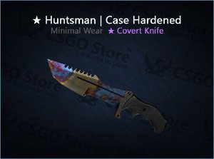 ★ Huntsman Knife | Case Hardened (Minimal Wear)