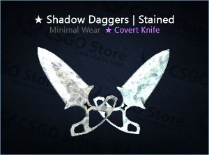 ★ Shadow Daggers | Stained (Minimal Wear)