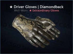 ★ Driver Gloves | Diamondback (Well-Worn)