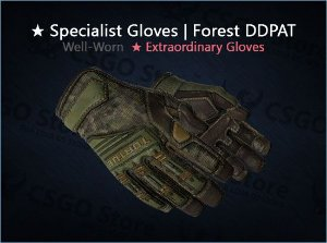 ★ Specialist Gloves | Forest DDPAT (Well-Worn)