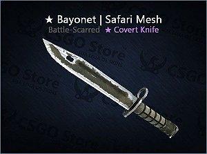 ★ Bayonet | Safari Mesh (Battle-Scarred)