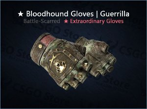 ★ Bloodhound Gloves | Guerrilla (Battle-Scarred)
