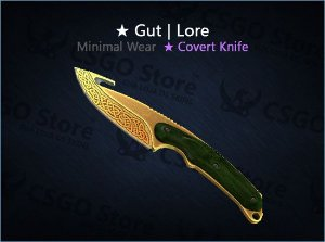★ Gut Knife | Lore (Minimal Wear)