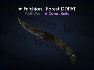 ★ Falchion Knife | Forest DDPAT (Well-Worn)