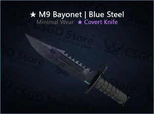 ★ M9 Bayonet | Blue Steel (Minimal Wear)