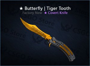 ★ Butterfly Knife | Tiger Tooth (Factory New)