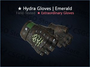 ★ Hydra Gloves | Emerald 0.19 (Field-Tested)