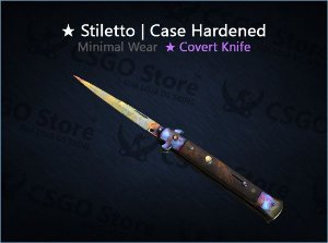 ★ Stiletto Knife | Case Hardened (Minimal Wear)