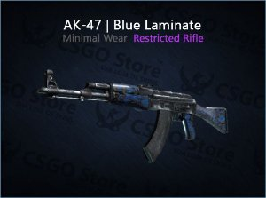 AK-47 | Blue Laminate (Minimal-Wear)