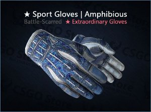 ★ Sport Gloves | Amphibious (Battle-Scared)