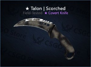 ★ Talon Knife | Scorched (Field-Tested)