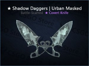 ★ Shadow Daggers | Urban Masked (Battle-Scarred)
