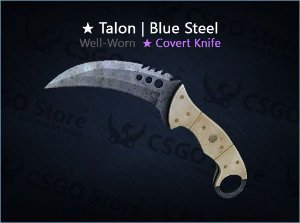 ★ Talon Knife | Blue Steel (Well-Worn)
