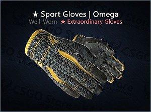 ★ Sport Gloves | Omega (Well-Worn)