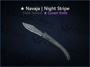 ★ Navaja Knife | Night Stripe (Field-Tested)