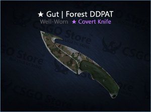 ★ Gut Knife | Forest DDPAT (Well-Worn)
