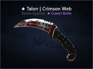 ★ Talon Knife | Crimson Web (Battle-Scarred)