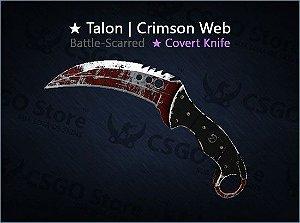★ Talon Knife | Crimson Web (Battle-Scarred)