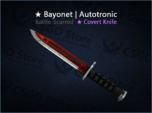 ★ Bayonet | Autotronic (Battle-Scarred)