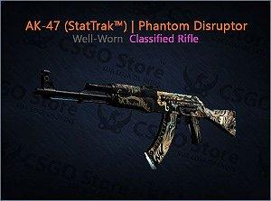 AK-47 (StatTrak™) | Phantom Disruptor (Well-Worn)