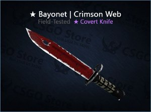 ★ Bayonet | Crimson Web (Field-Tested)
