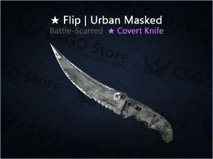 ★ Flip Knife | Urban Masked (Battle-Scarred)