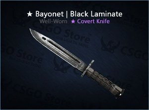 ★ Bayonet | Black Laminate (Well-Worn)
