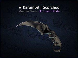 ★ Karambit | Scorched (Minimal Wear)