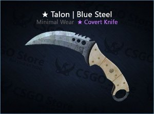 ★ Talon Knife | Blue Steel (Minimal Wear)