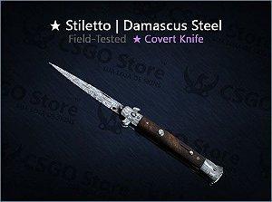 ★ Stiletto Knife | Damascus Steel (Field-Tested)