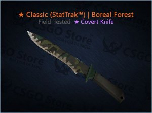 Classic Knife (StatTrak™) | Boreal Forest (Field-Tested)